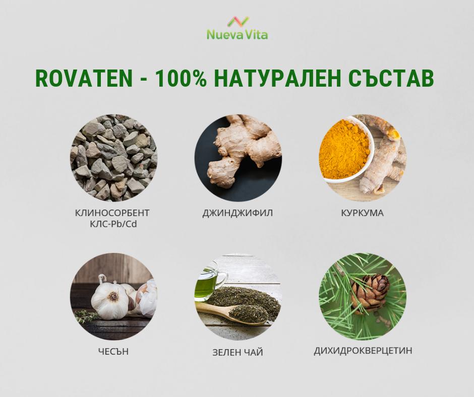 хранителни добавки против рак - състав на Роватен